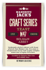 Trocken Bierhefe Belgian Abbey M47, Mangrove Jack's Craft Series, 10 gram