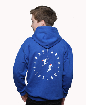 POWDERHOUND KIDS ROYAL BLUE & WHITE SKI HOODIE - Powderhound