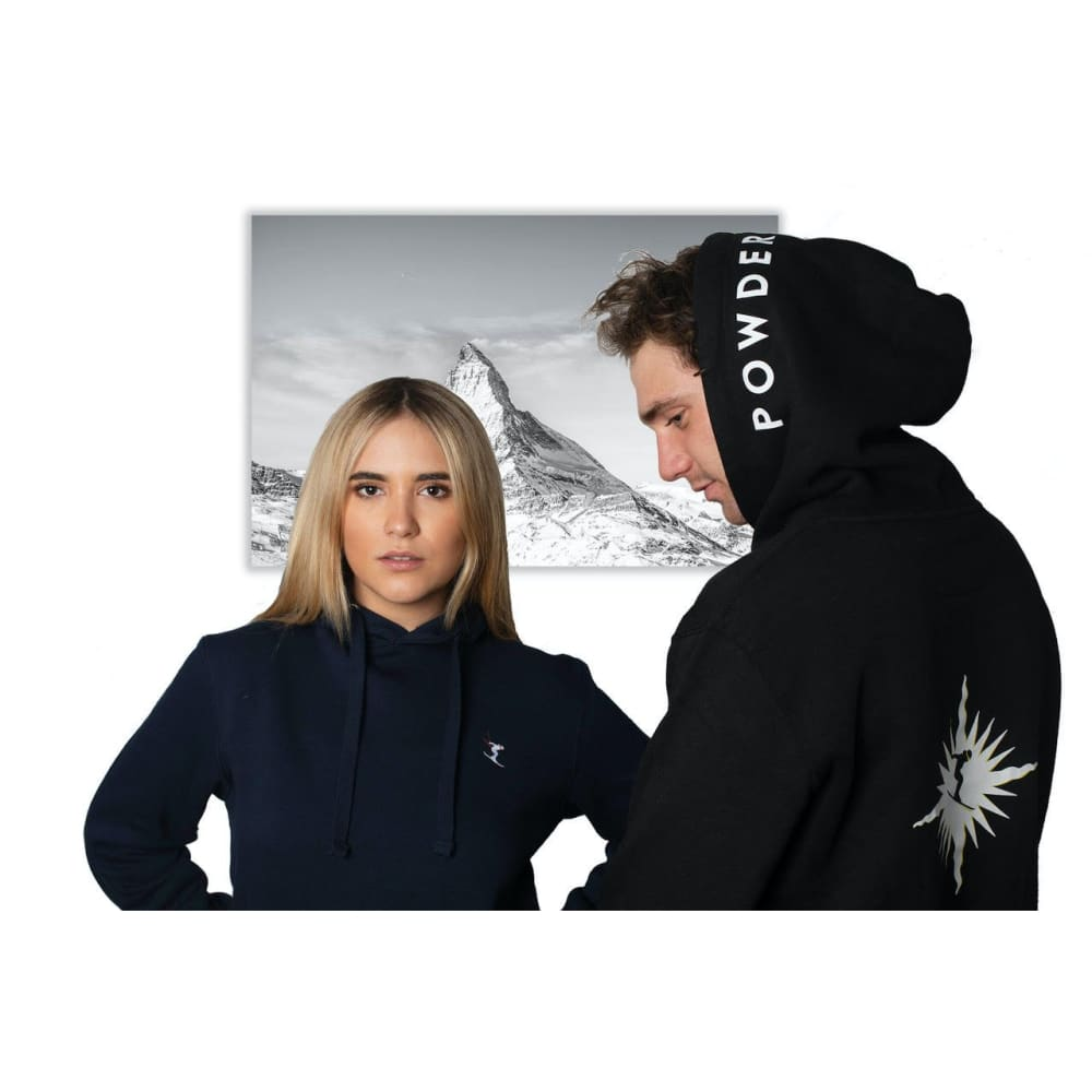 POWDERHOUND SKI STAR BLACK HOODIE - hoodie