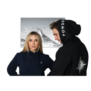 POWDERHOUND SKI STAR BLACK HOODIE - CLOTHING