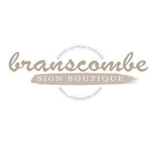 Branscombe Sign Boutique -- Hand-Painted Signs | Artwork | Farmhouse Clocks | Keepsake Boxes | Growth Charts & More.