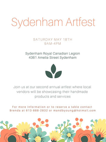 Sydenham Artfest - Second Annual Artfest -- Showcasing Local | Handmade Artisan Goods & Services