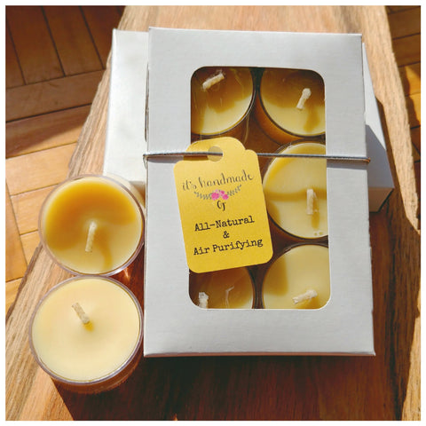 BUTT NAKED (Unscented) beeswax tealights - Countryside Treasures | Unscented Collection