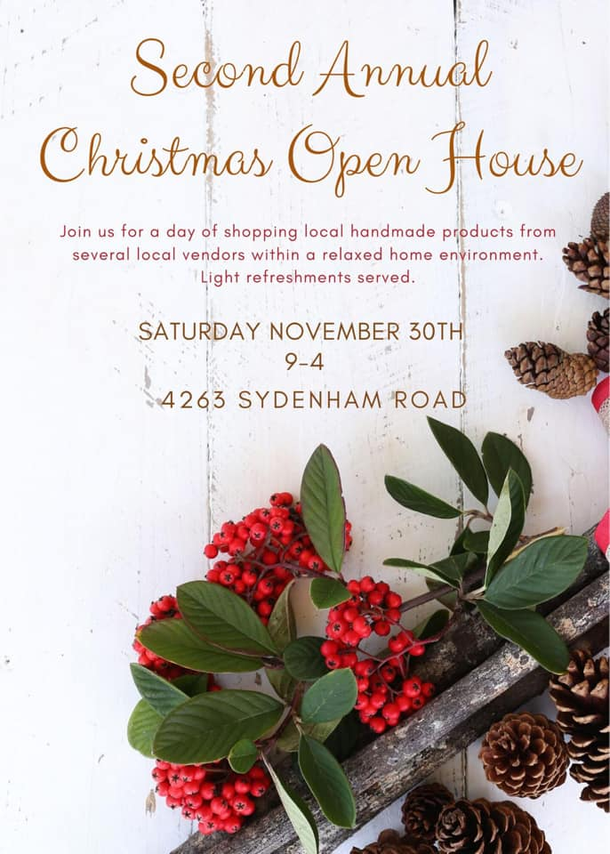 Second Annual Christmas Open House | South Frontenac, ON - November 2019