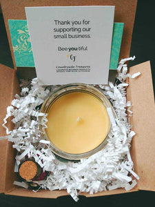 THANK YOU FOR RAISING THE MAN OF MY DREAMS beeswax candle - Countryside Treasures