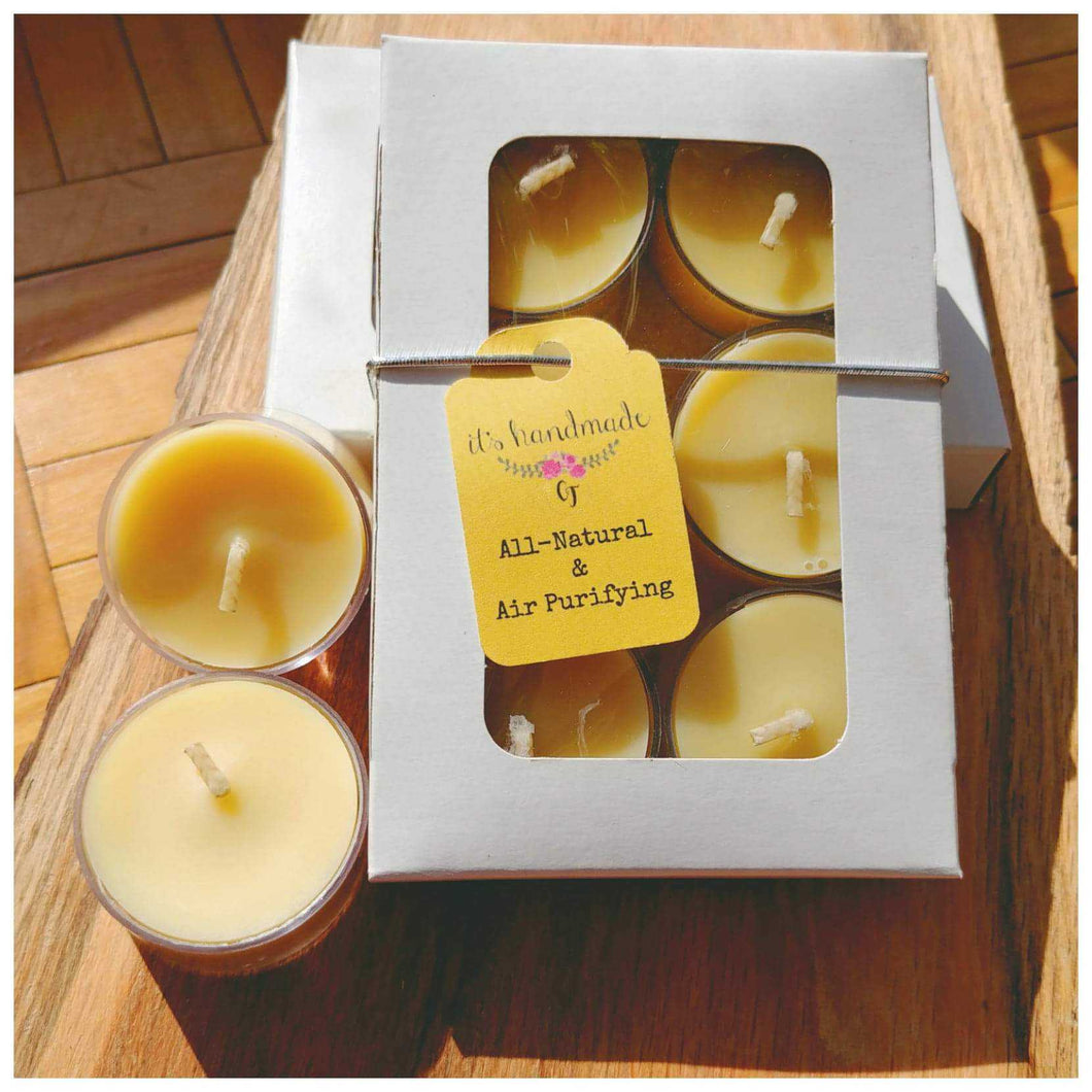 BUTT NAKED (Unscented) Beeswax Tealight Candles - Countryside Treasures