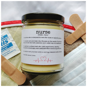 NURSE CARE GIFT SET with beeswax candle - Handmade | Small Batch | Local | Thank You Gift | Appreciation | Healthcare | Countryside Treasures