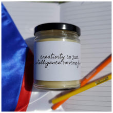 CREATIVITY | INTELLIGENCE HAVING FUN beeswax candle - Countryside Treasures