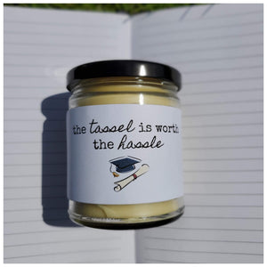 THE TASSEL IS WORTH THE HASSLE beeswax candle - Countryside Treasures