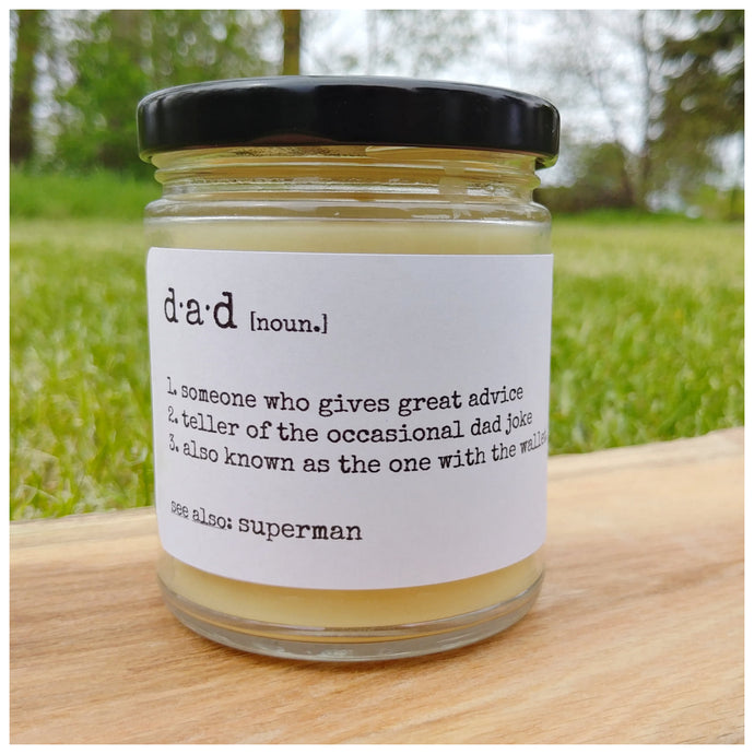 D·A·D beeswax candle - Countryside Treasures