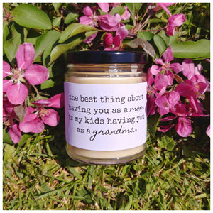 YOU AS MY MOM & A GRANDMA TO MY KIDS beeswax candle - Countryside Treasures