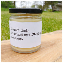 THANKS DAD beeswax candle - Countryside Treasures