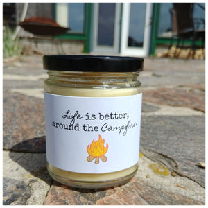 LIFE IS BETTER AROUND THE CAMPFIRE beeswax candle - Countryside Treasures