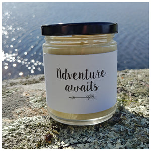 ADVENTURE AWAITS beeswax candle - Countryside Treasures
