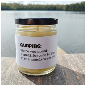 CAMPING beeswax candle - Countryside Treasures
