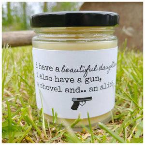I HAVE A BEAUTIFUL DAUGHTER beeswax candle - Countryside Treasures
