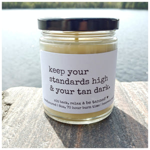 STANDARDS HIGH & TAN DARK beeswax candle - Countryside Treasures