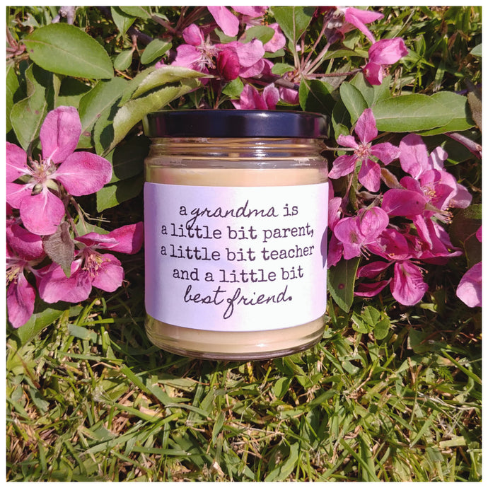 A GRANDMA | A BEST FRIEND beeswax candle - Countryside Treasures