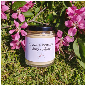 I WINE BECAUSE THEY WHINE beeswax candle - Countryside Treasures