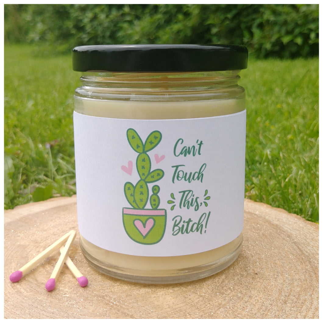 CAN'T TOUCH THIS, BITCH beeswax candle - Countryside Treasures