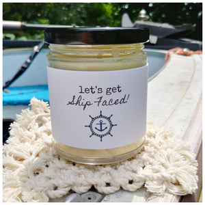 LET'S GET SHIP FACED! - Handmade Beeswax Candle | Countryside Treasures