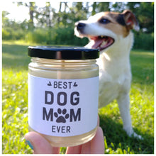 BEST DOG MOM EVER - Handmade Beeswax Candle | Countryside Treasures