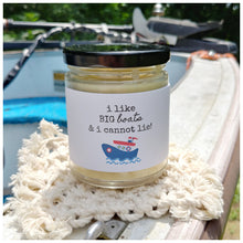 I LIKE BIG BOATS & I CANNOT LIE - Handmade Beeswax Candle | Countryside Treasures