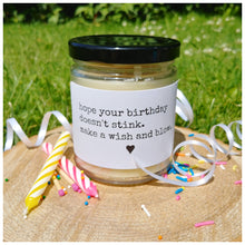 HOPE YOUR BIRTHDAY DOESN'T STINK. MAKE A WISH AND BLOW - Handmade Beeswax Candle | Countryside Treasures