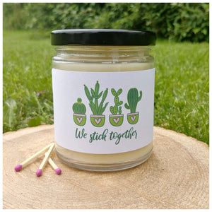 WE STICK TOGETHER beeswax candle - Countryside Treasures