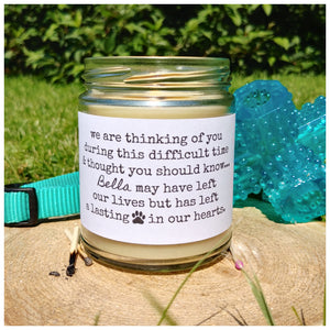 PET LOSS - Handmade Beeswax Candle | Countryside Treasures