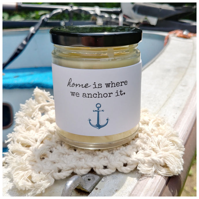 HOME IS WHERE WE ANCHOR IT - Handmade Beeswax Candle | Countryside Treasures