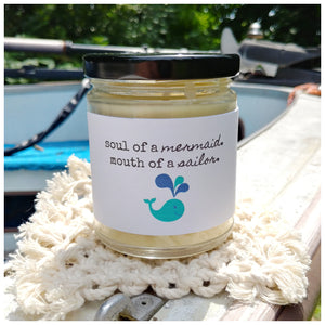 SOUL OF A MERMAID, MOUTH OF A SAILOR - Handmade Beeswax Candle | Countryside Treasures