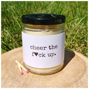 CHEER THE F*CK UP - Handmade Beeswax Candle | Countryside Treasures
