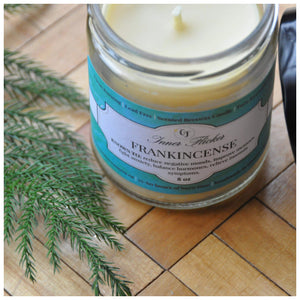 FRANKINCENSE Beeswax Candle - WELLNESS COLLECTION - Countryside Treasures