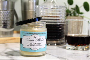 GROUNDED (Pipe Tobacco) beeswax candle - Countryside Treasures