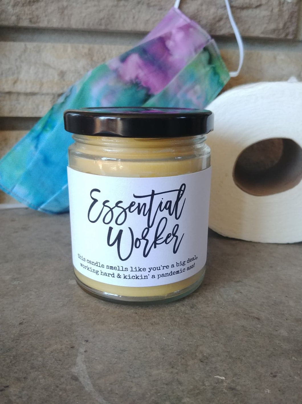ESSENTIAL WORKER - Handmade Gifts that are funny AF - Small Batched and Locally Made Beeswax Candles - Essential Worker, Coworker, Nurse, Care Gift | Countryside Treasures