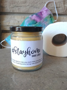 #STAYHOME SAVE LIVES - Handmade Gifts that are funny AF - Small Batched and Locally Made Beeswax Candles - Essential Worker, Coworker, Nurse, Care Gift | Countryside Treasures