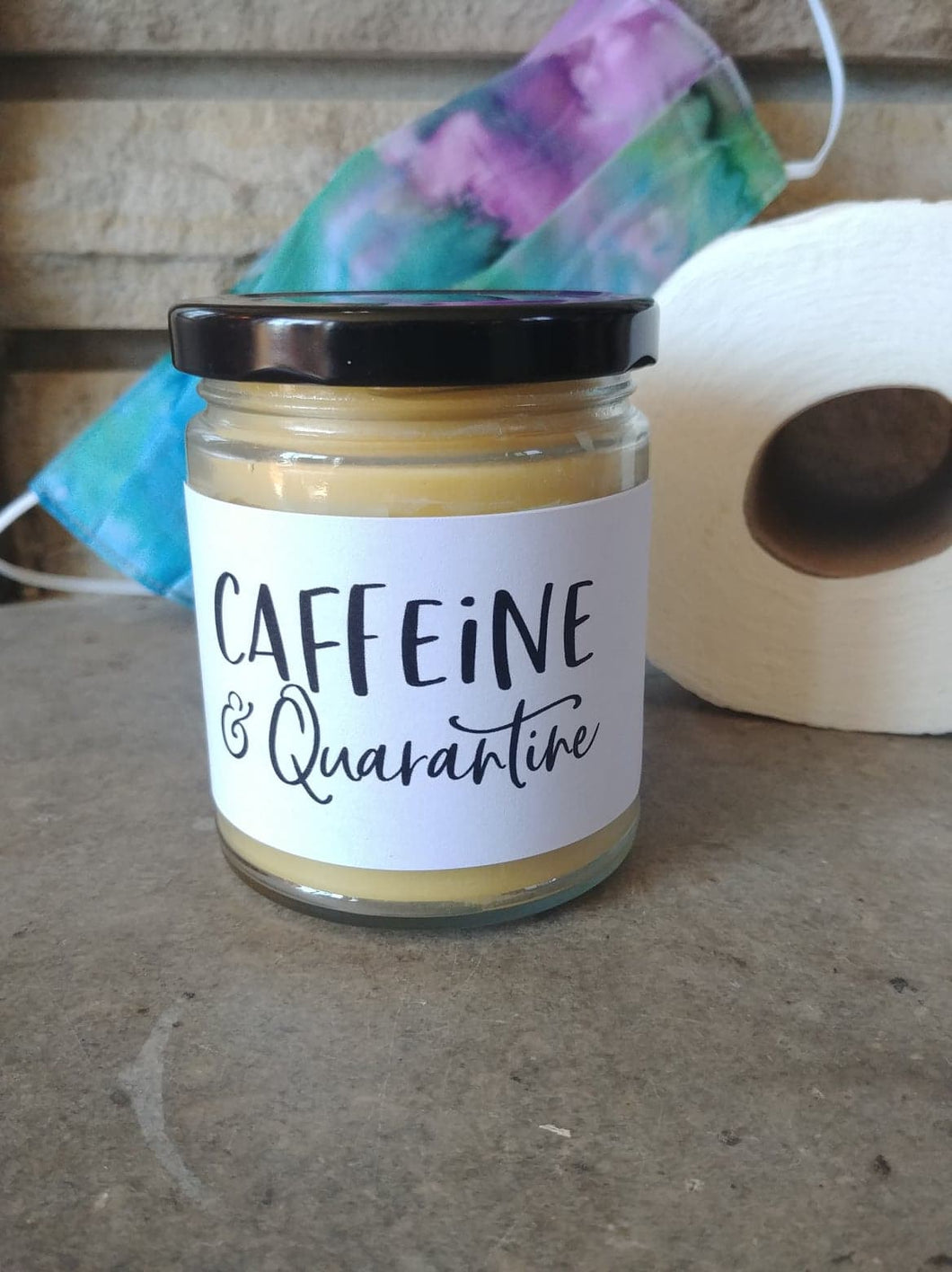 CAFFEINE & QUARANTINE - Handmade Gifts that are funny AF - Small Batched and Locally Made Beeswax Candles - Essential Worker, Coworker, Nurse, Friend, Neighbor, Care Gift | Countryside Treasures