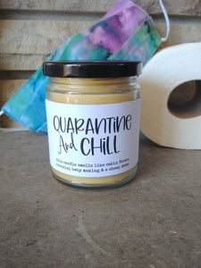 QUARANTINE & CHILL - Handmade Gifts that are funny AF - Small Batched and Locally Made Beeswax Candles - Essential Worker, Coworker, Nurse, Care Gift | Countryside Treasures