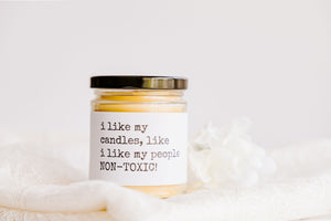 I LIKE MY CANDLES & PEOPLE | NON-TOXIC beeswax candle - Countryside Treasures