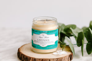 LAVENDER Beeswax Candle - ESSENTIAL OIL COLLECTION - Countryside Treasures