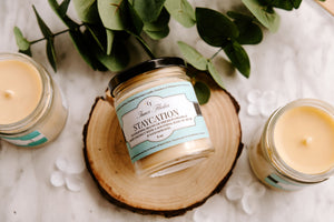 STAYCATION - Baja Cactus Blossom beeswax candle - Countryside Treasures | Summer Collection