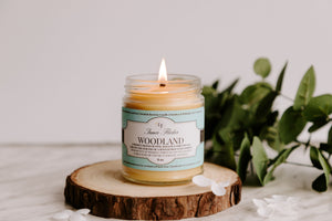 WOODLAND (Birchwood & Pine) scented beeswax candle - Countryside Treasures