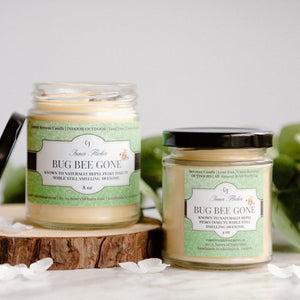 BUG BEE GONE - Summer Indoor/Outdoor & Dual Purpose - Scented Beeswax Candle | Countryside Treasures