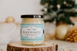 BLACK DIAMOND (Black Raspberry Vanilla) Beeswax Candle - Winter Scent Collection