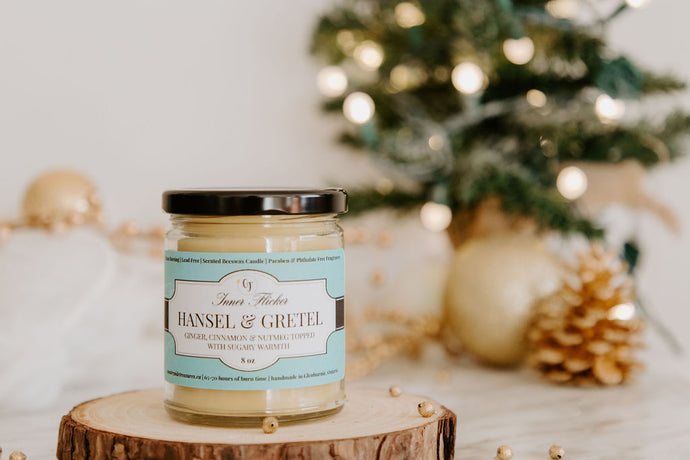HANSEL & GRETEL (Gingerbread) beeswax candle | Countryside Treasures