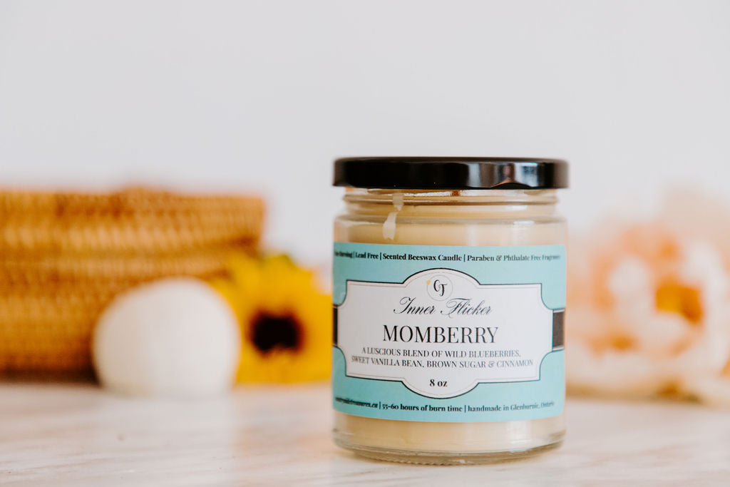 MOMBERRY - Blueberry Cobbler beeswax candle | Countryside Treasures