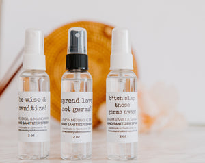 Natural Hand Sanitizer Sprays - Handmade | Countryside Treasures