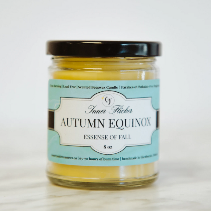 AUTUMN EQUINOX (Apple Cinnamon) beeswax candle | Countryside Treasures