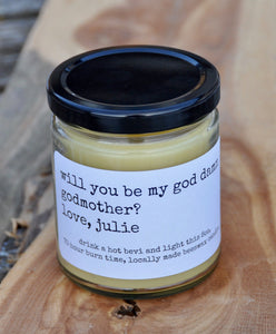 GODMOTHER beeswax candle - Countryside Treasures
